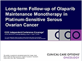 Olaparib In Ps Soc Gynecologic Cancers 2016 American Society Of Clinical Oncology Annual Meeting Oncology Clinical Care Options