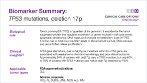 Biomarker: TP53 del(17p) - Downloadable PDFs - Biomarkers for